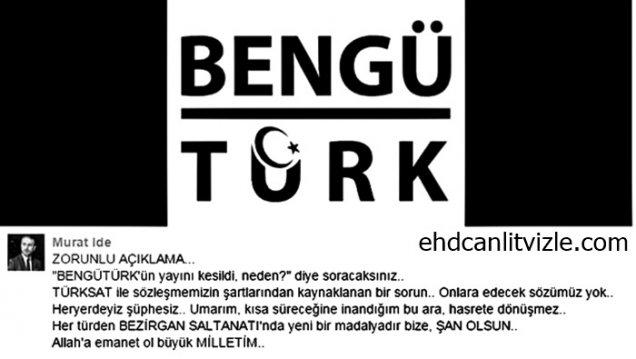 BengüTürk TV'nin Türksat yayınları durduruldu!